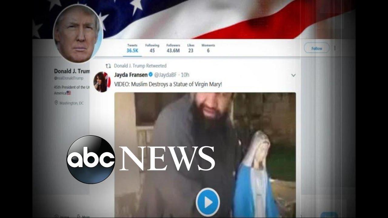 トランプ大統領が保守系団体の反イスラム動画をリツイート、大論争に発展…[海外の反応]
