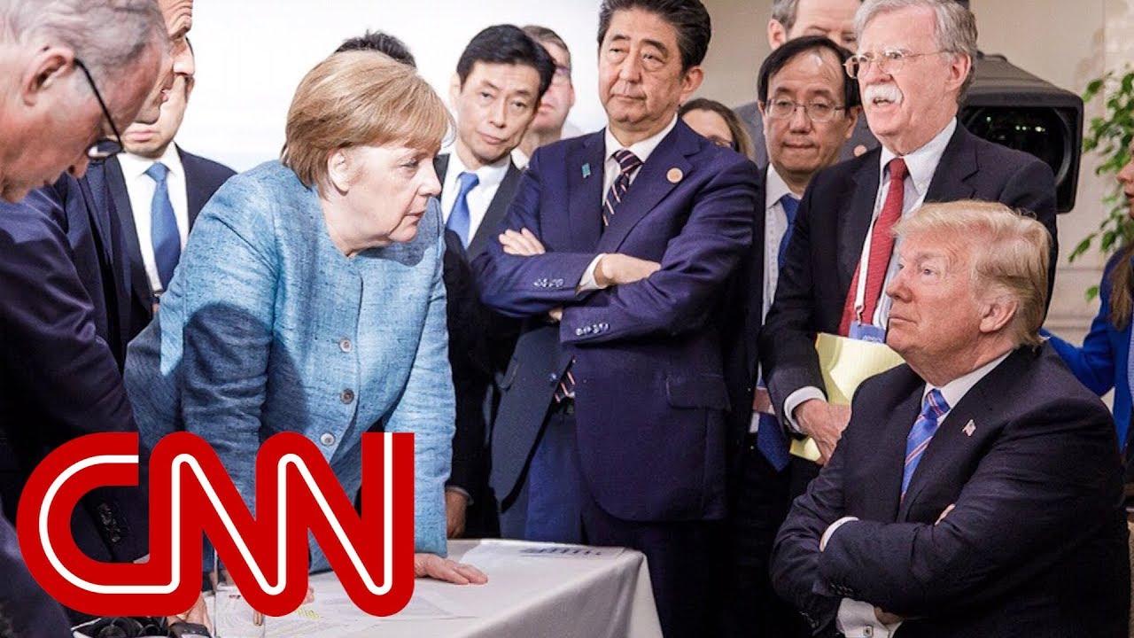 メルケル独首相、トランプ米大統領、安倍首相…G7会合での一場面を捉えた写真が話題に…[海外の反応]